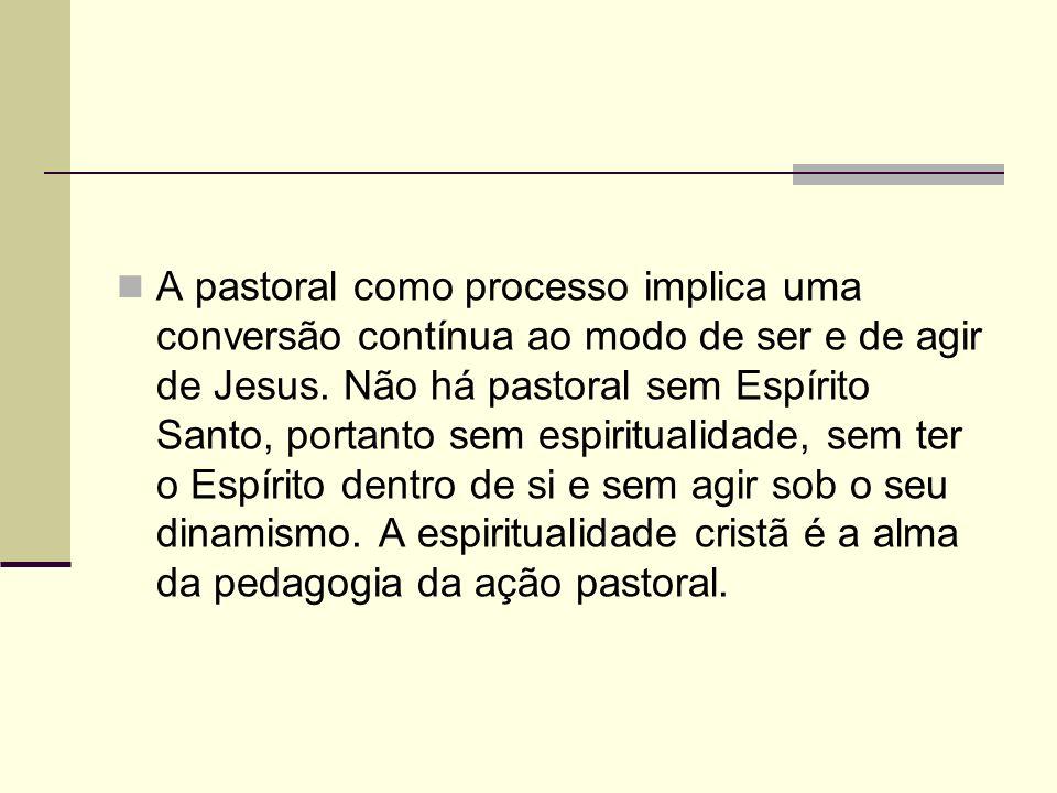 A pastoral como processo implica uma conversão contínua ao modo de ser e de agir de Jesus.