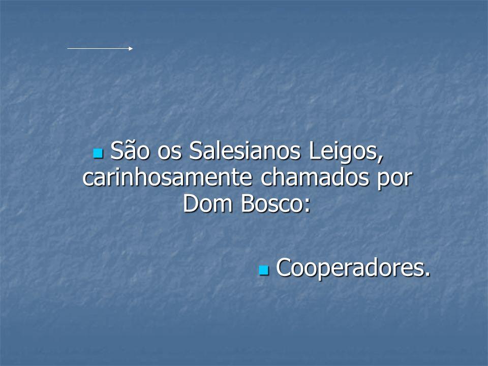 São os Salesianos Leigos, carinhosamente chamados por Dom Bosco:
