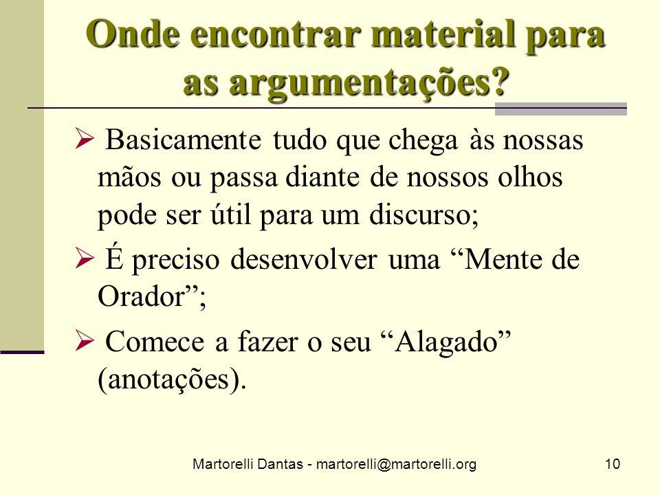 Onde encontrar material para as argumentações