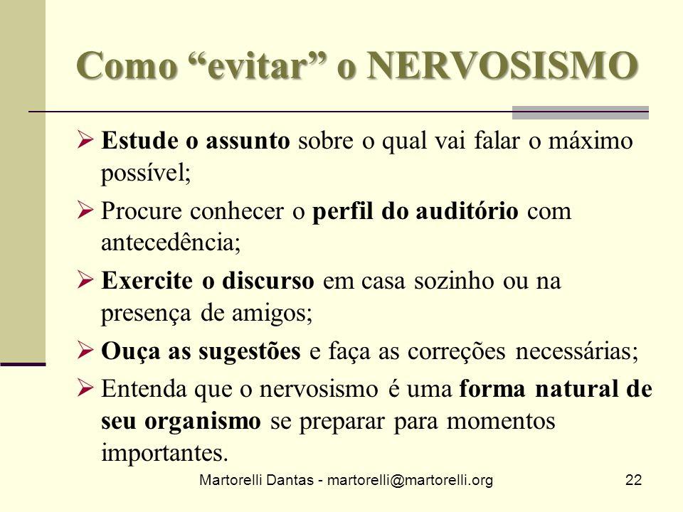 Como evitar o NERVOSISMO