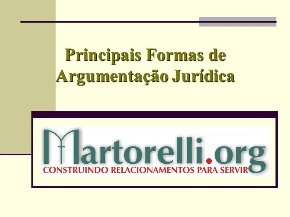 Principais Formas de Argumentação Jurídica