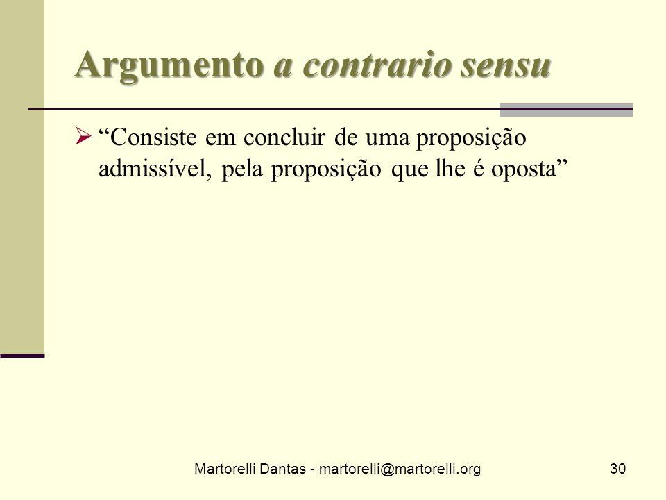 Argumento a contrario sensu