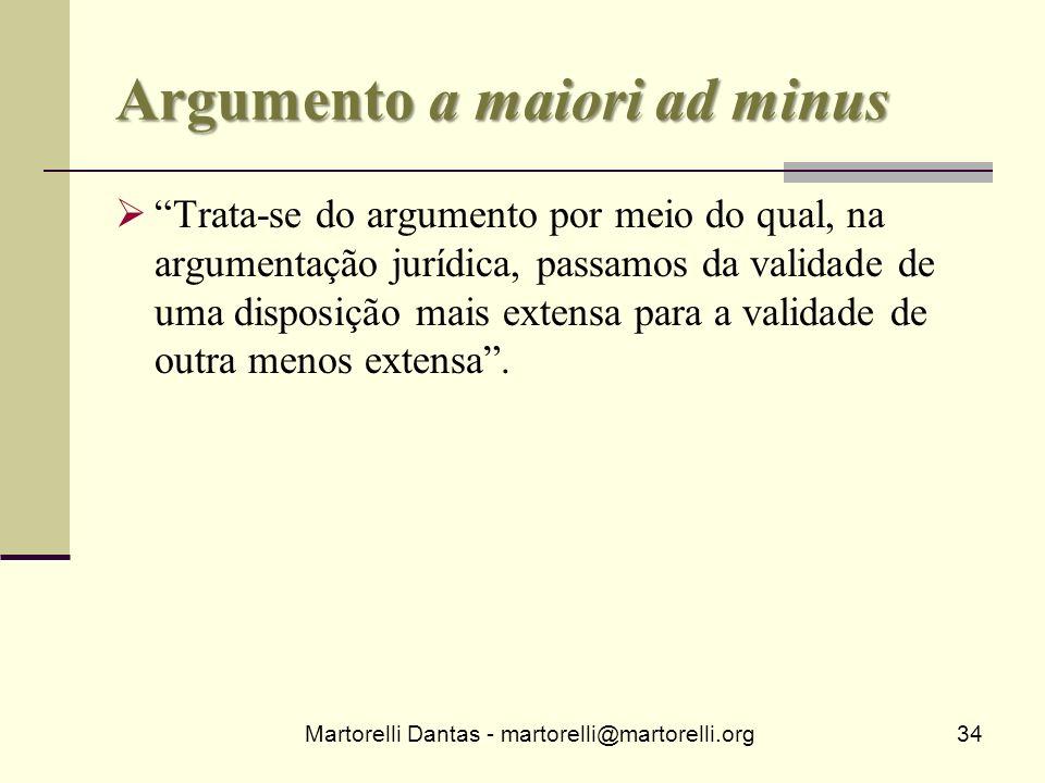 Argumento a maiori ad minus