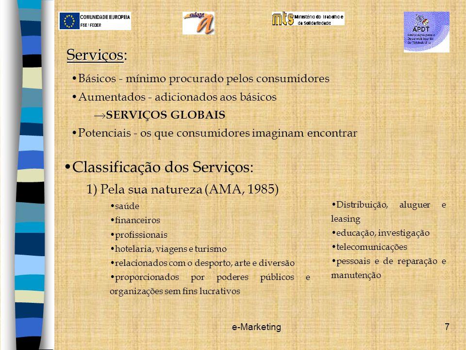 Classificação dos Serviços: