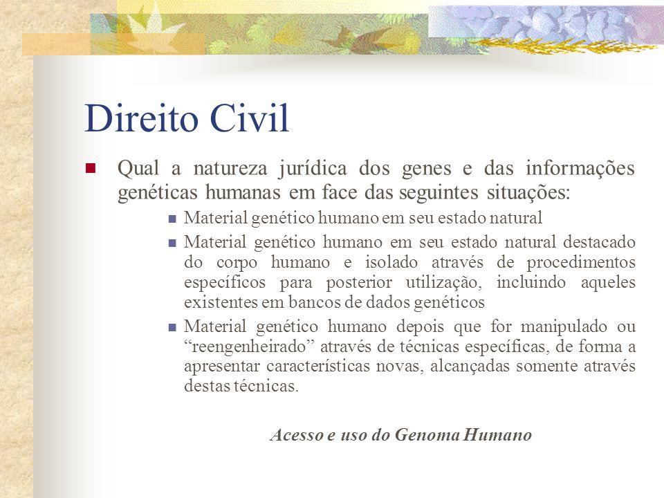 Acesso e uso do Genoma Humano