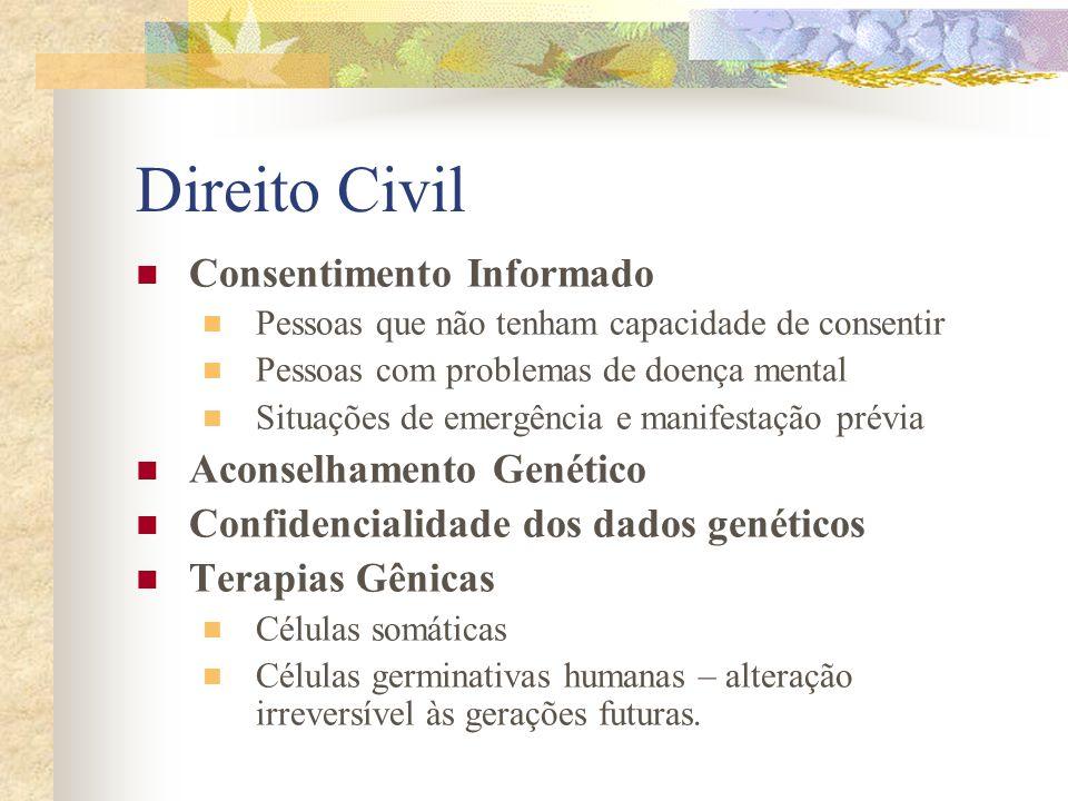Direito Civil Consentimento Informado Aconselhamento Genético
