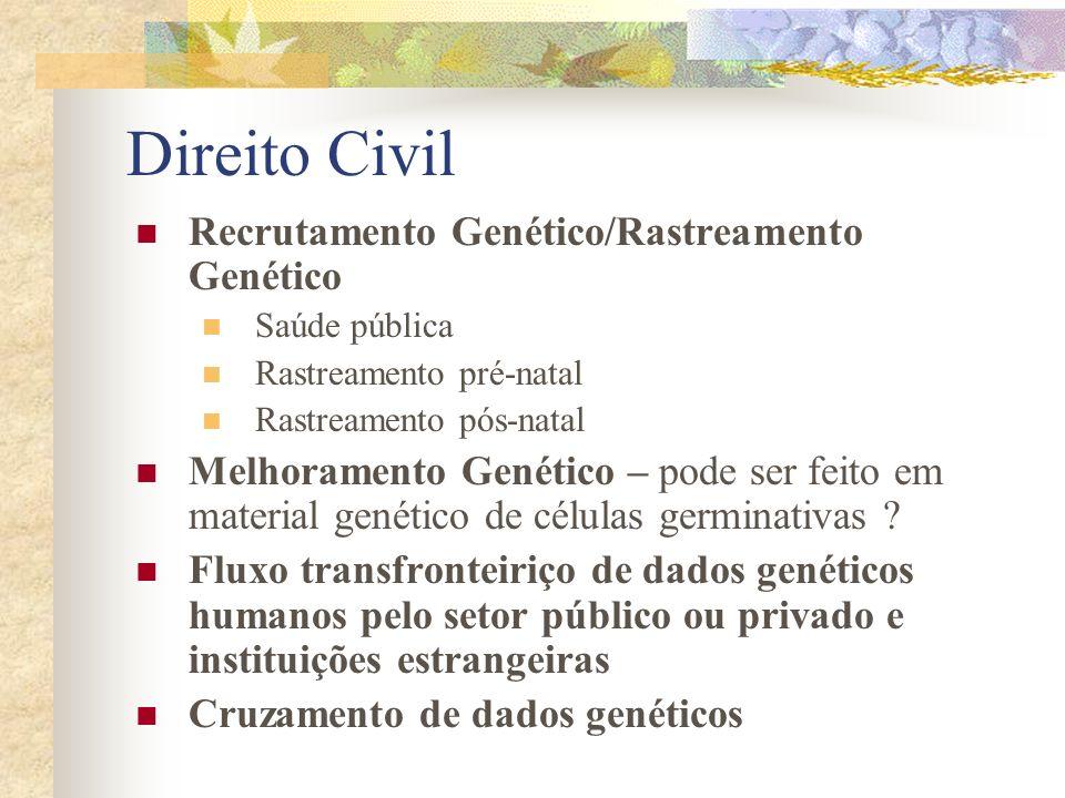 Direito Civil Recrutamento Genético/Rastreamento Genético