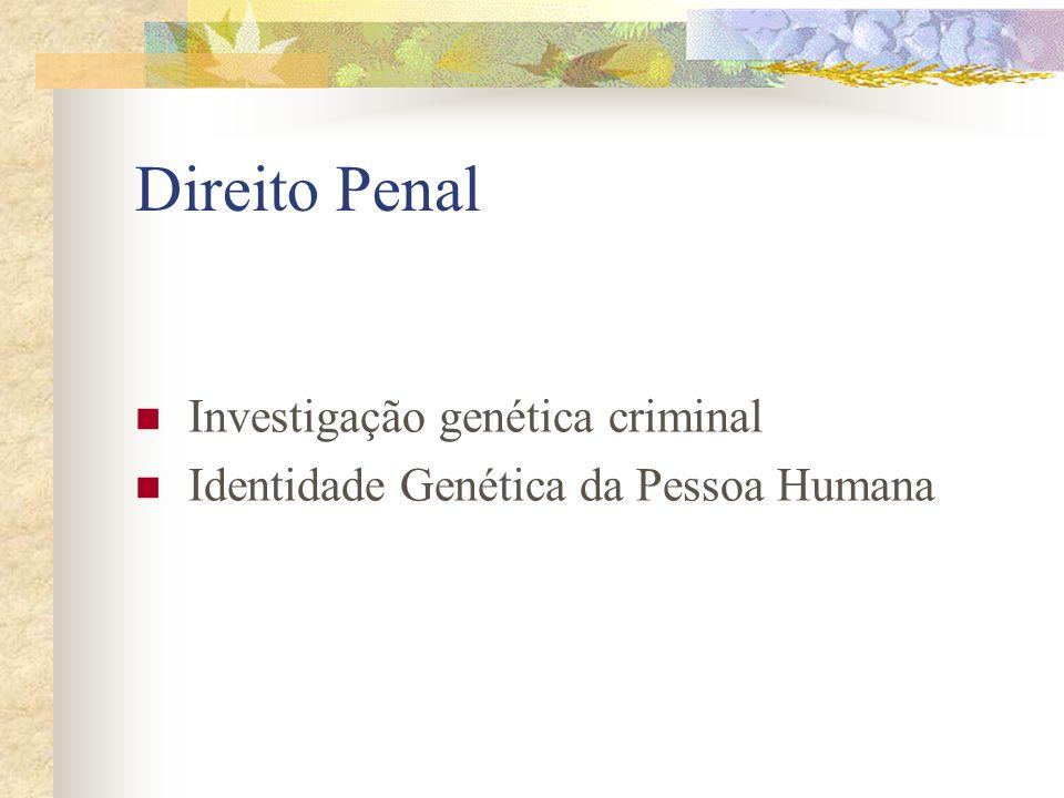 Direito Penal Investigação genética criminal