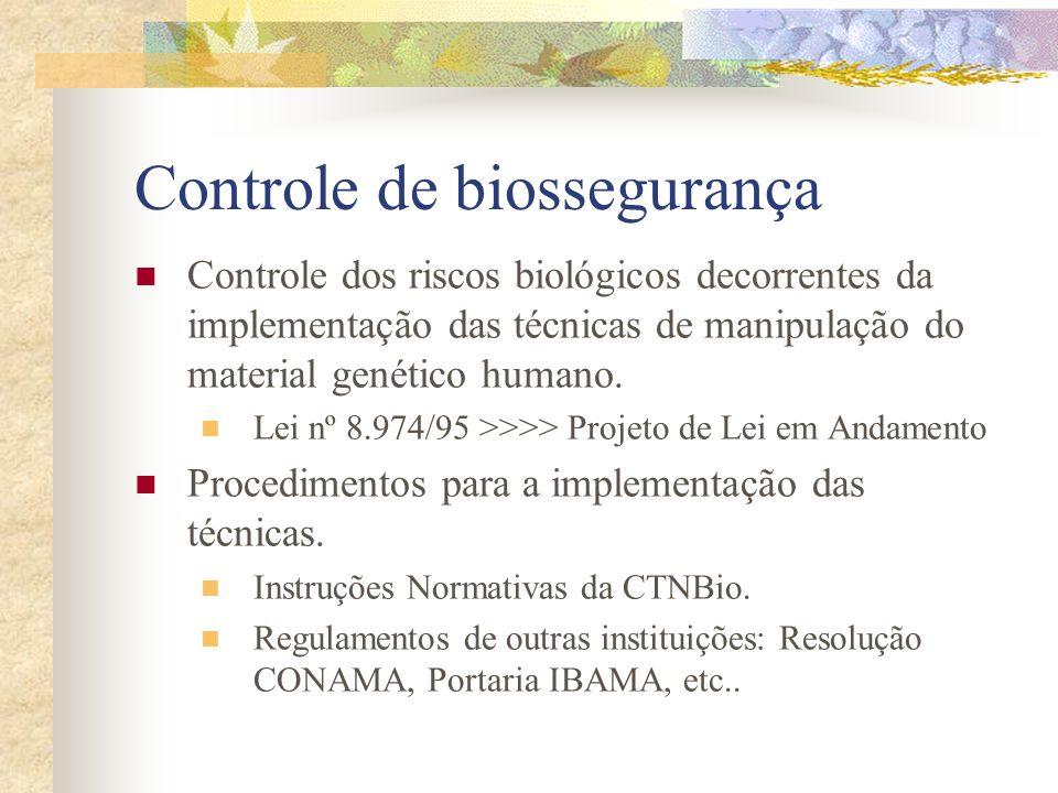 Controle de biossegurança