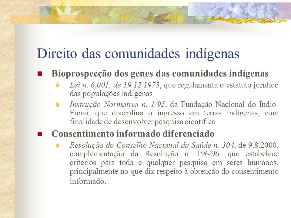 Direito das comunidades indígenas