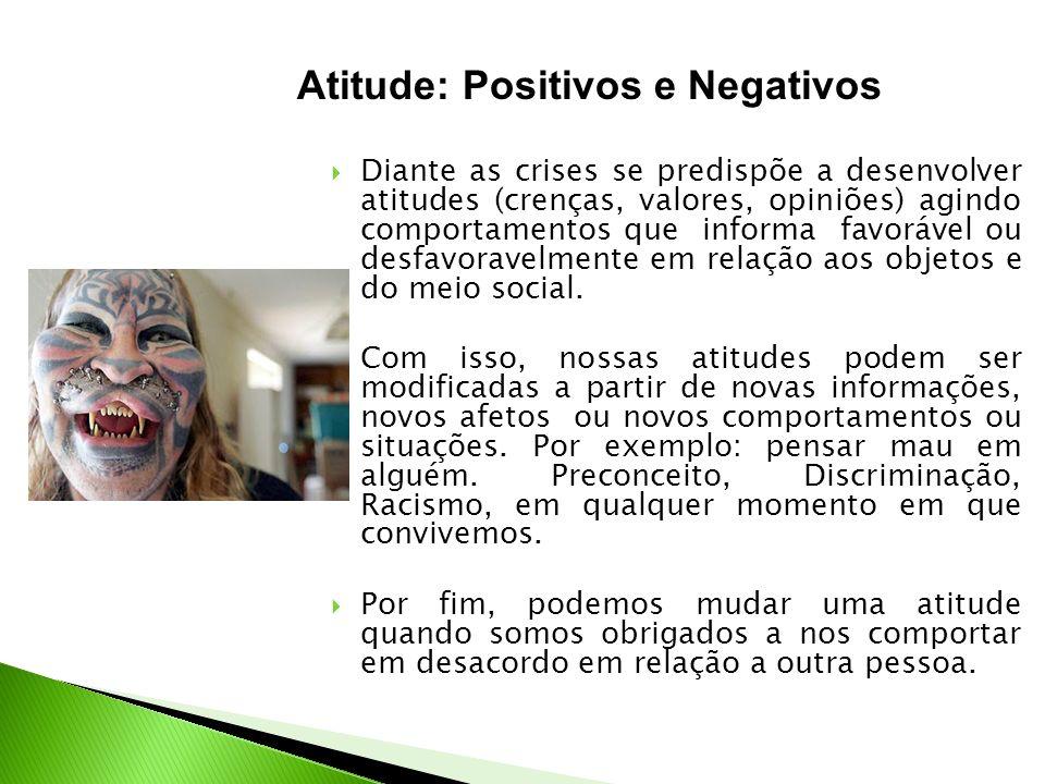 Atitude: Positivos e Negativos