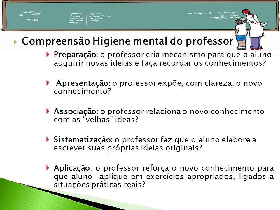Compreensão Higiene mental do professor