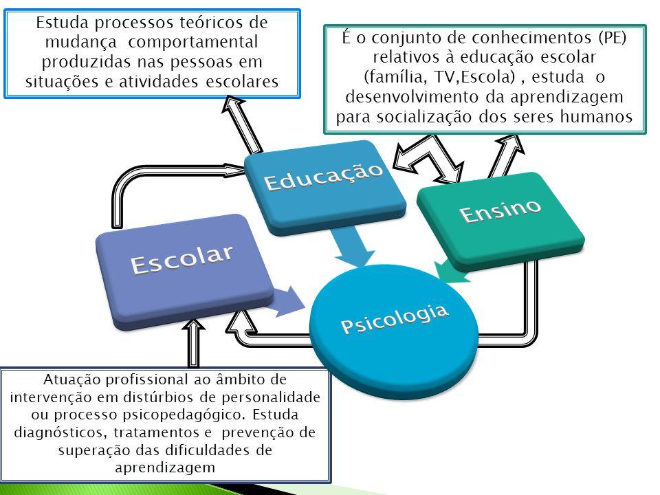 É o conjunto de conhecimentos (PE) relativos à educação escolar