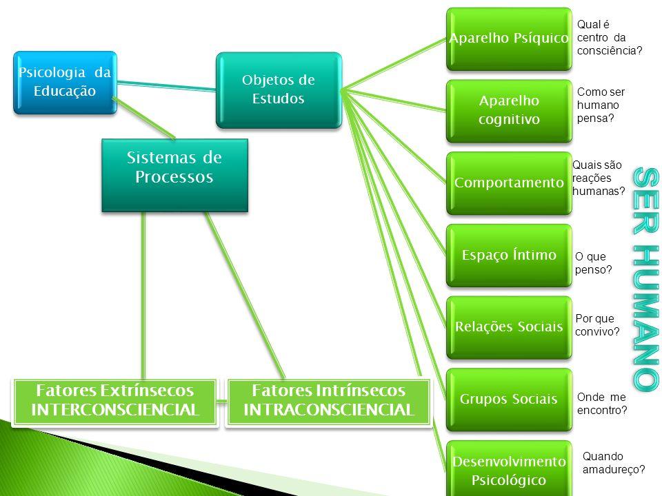 SER HUMANO Sistemas de Processos Fatores Extrínsecos INTERCONSCIENCIAL
