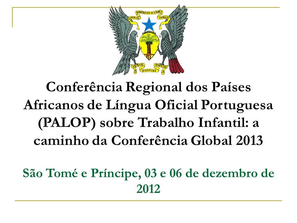 São Tomé e Príncipe, 03 e 06 de dezembro de 2012