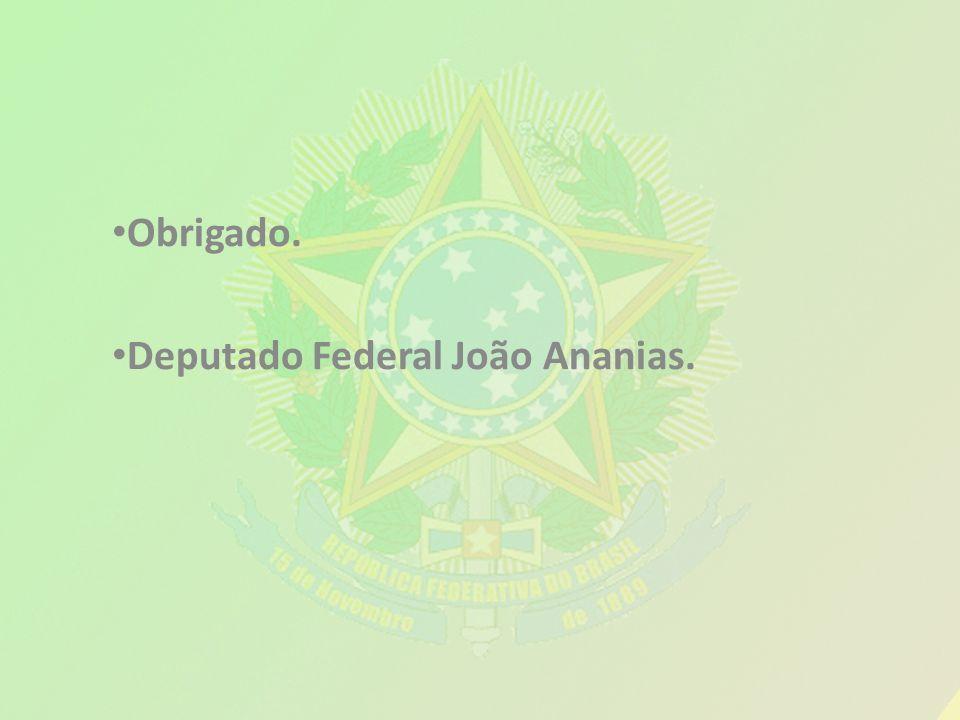 Obrigado. Deputado Federal João Ananias.