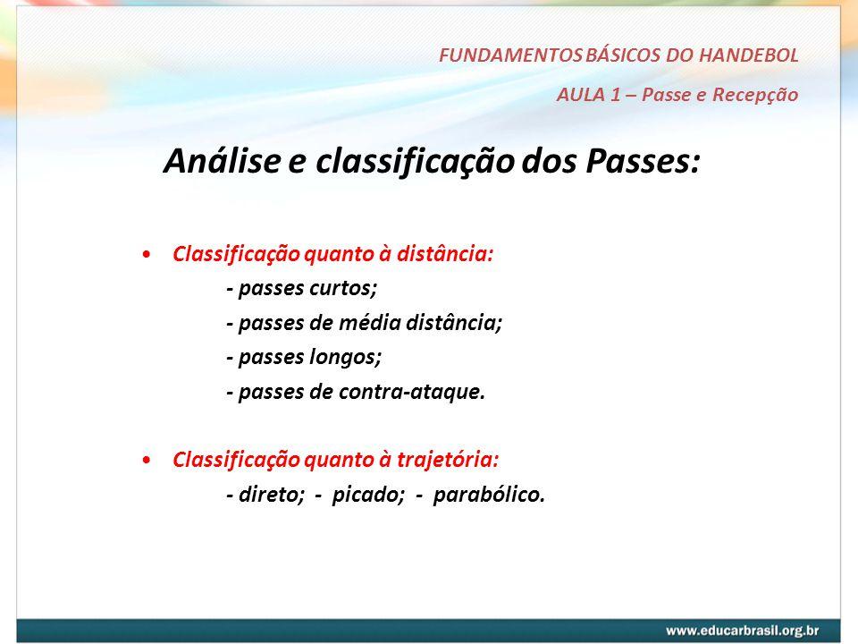 Análise e classificação dos Passes: