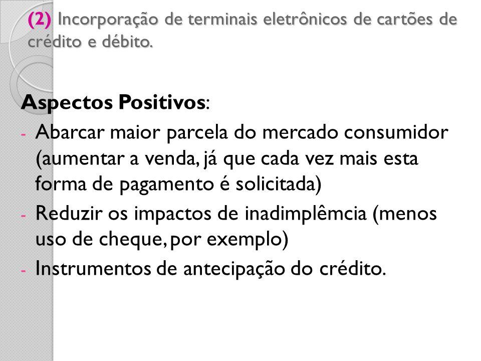 Instrumentos de antecipação do crédito.
