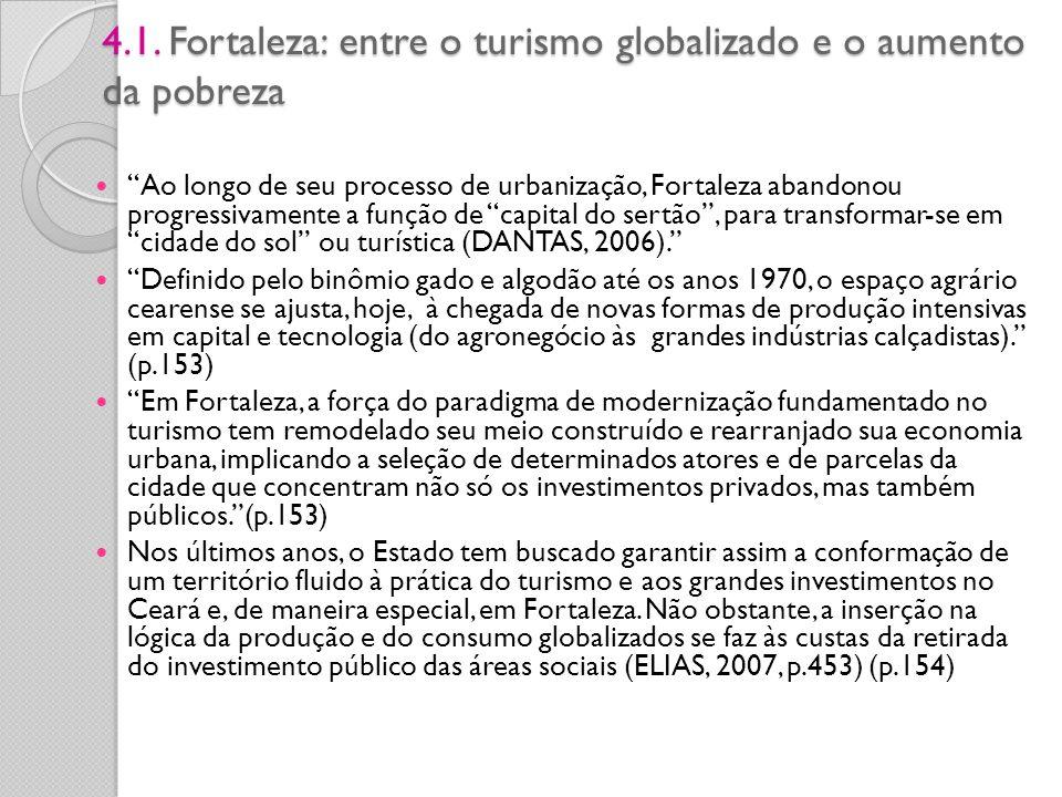 4.1. Fortaleza: entre o turismo globalizado e o aumento da pobreza