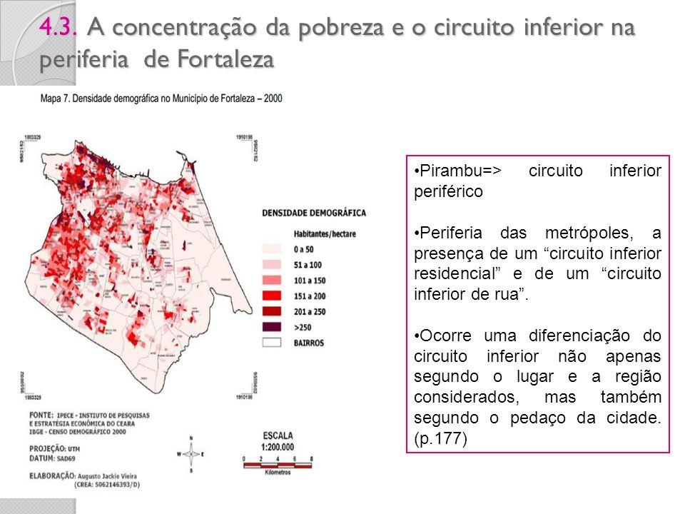 4.3. A concentração da pobreza e o circuito inferior na periferia de Fortaleza