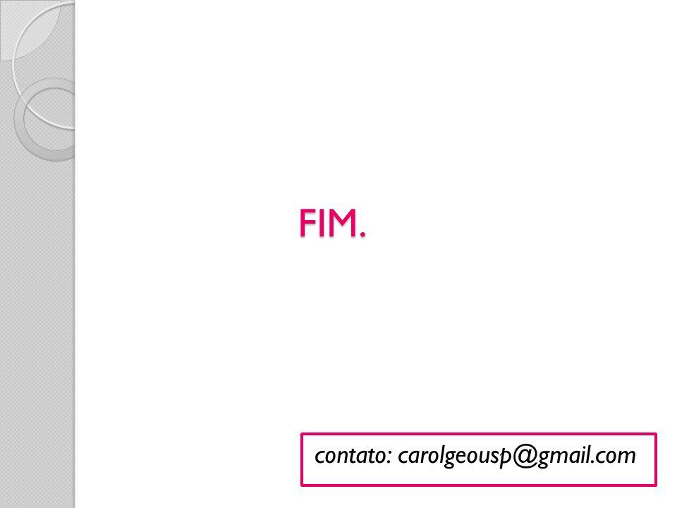FIM. contato: carolgeousp@gmail.com