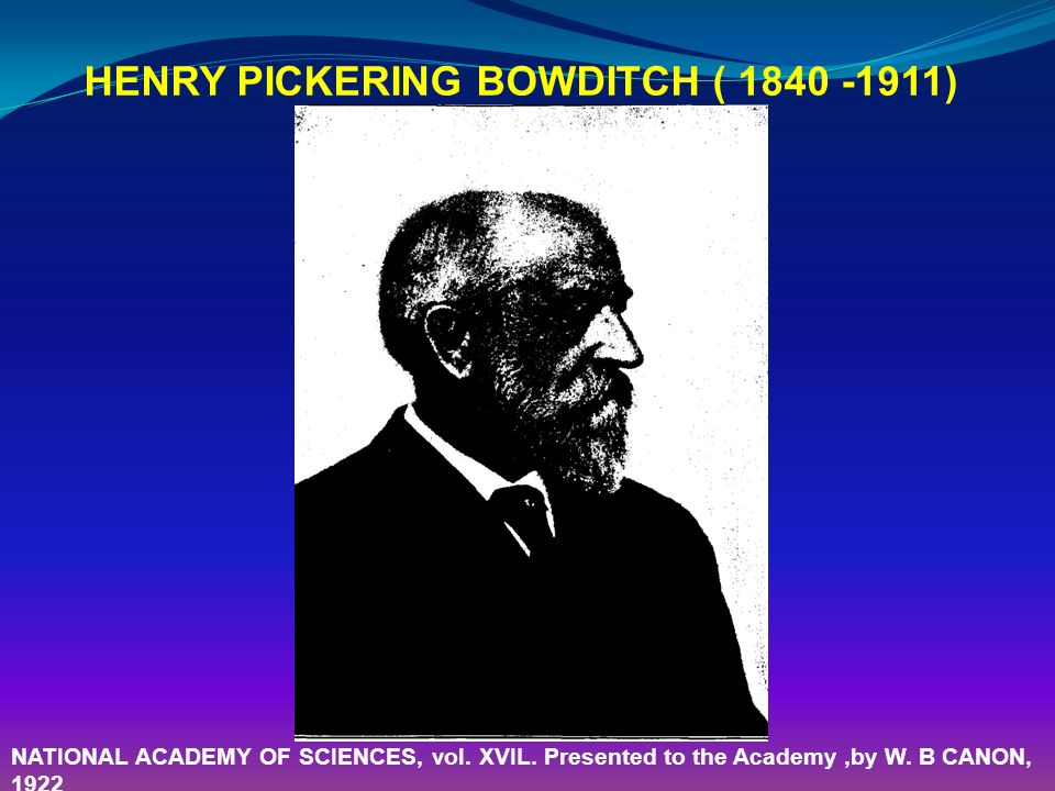 HENRY PICKERING BOWDITCH ( )