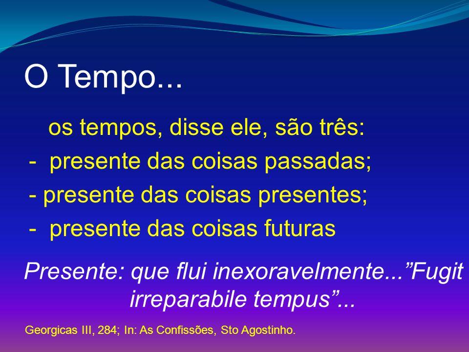 Presente: que flui inexoravelmente... Fugit irreparabile tempus ...