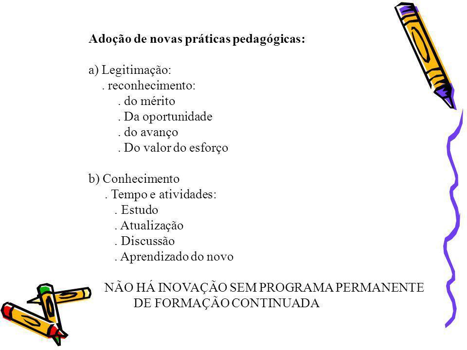 Adoção de novas práticas pedagógicas: