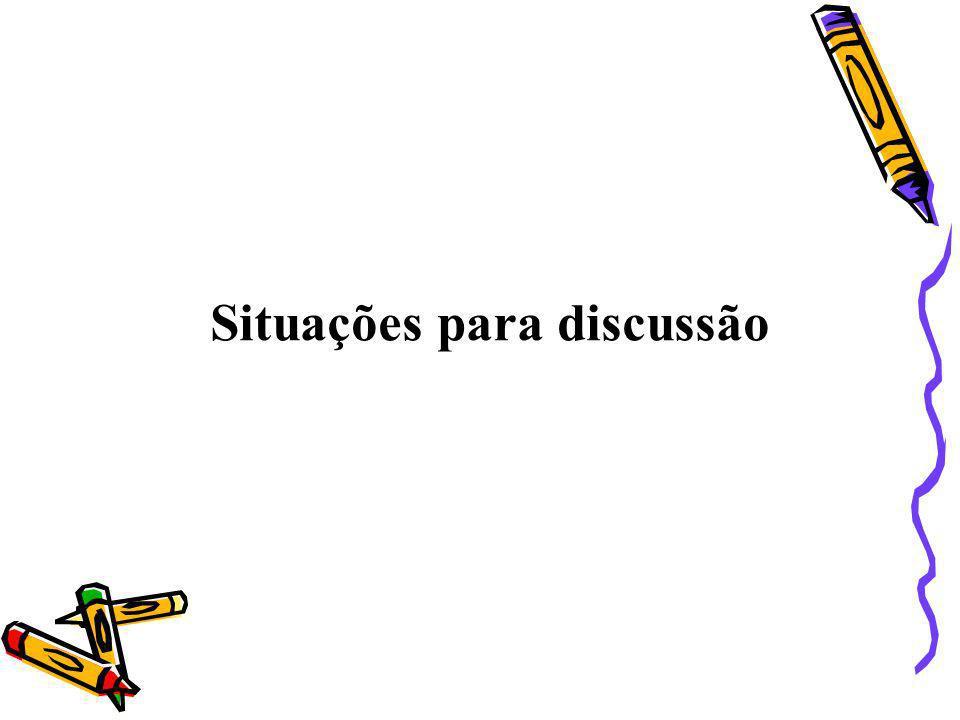 Situações para discussão