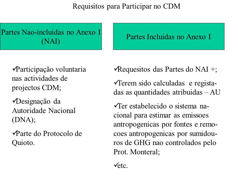 Requisitos para Participar no CDM