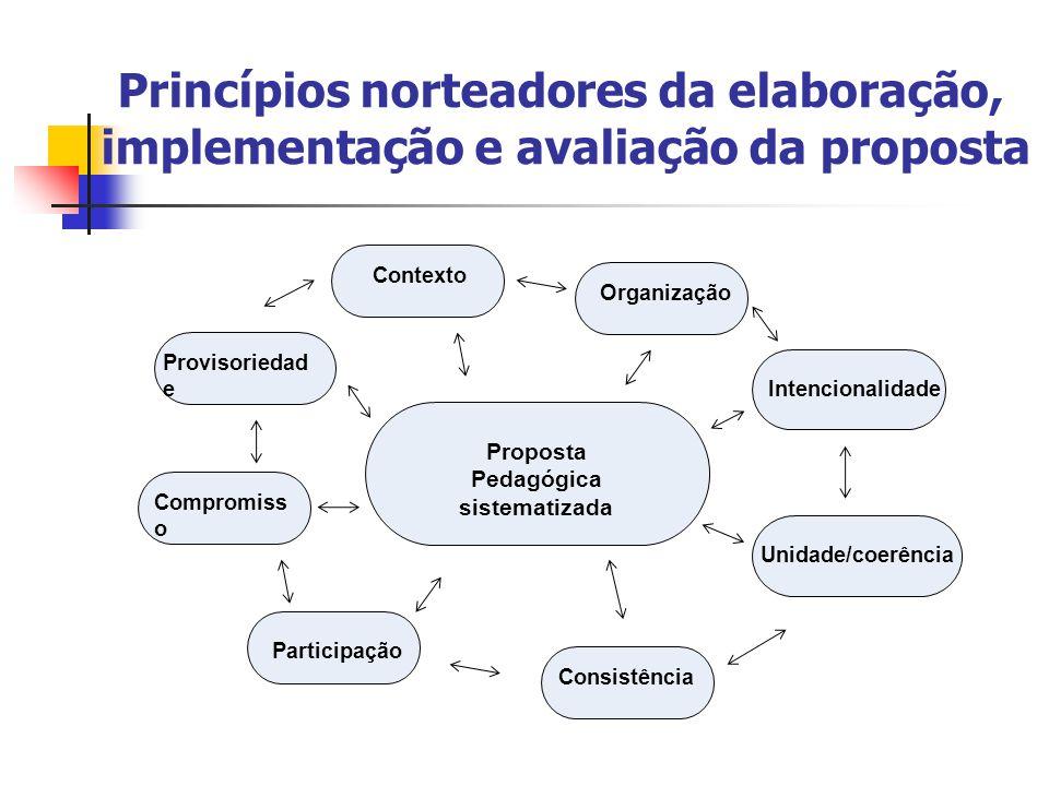 Princípios norteadores da elaboração, implementação e avaliação da proposta