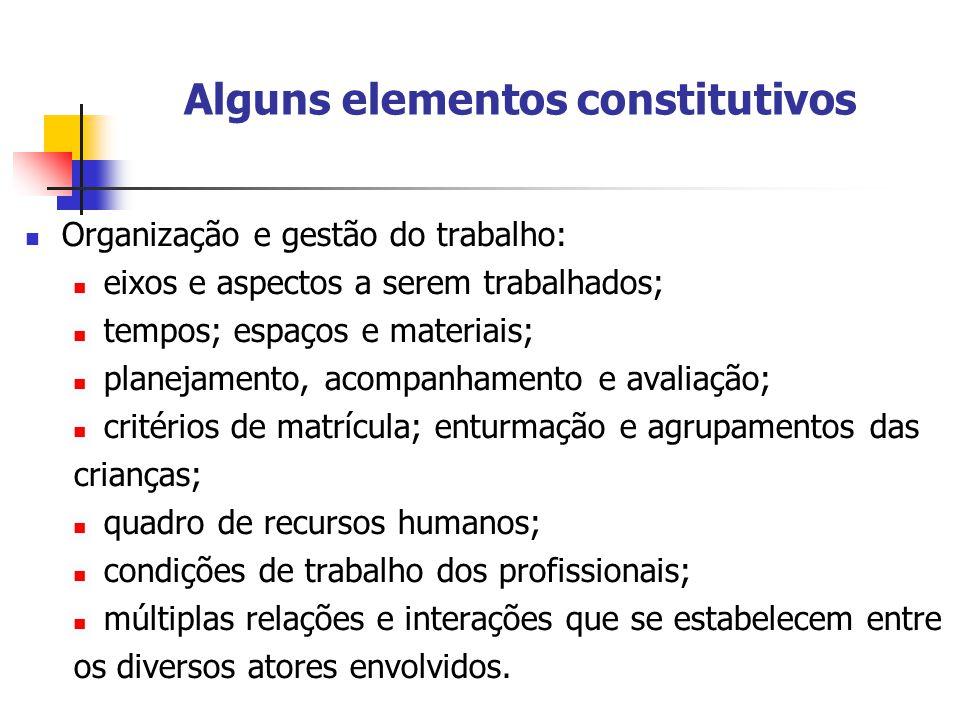 Alguns elementos constitutivos