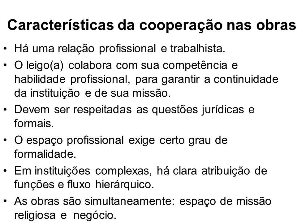 Características da cooperação nas obras