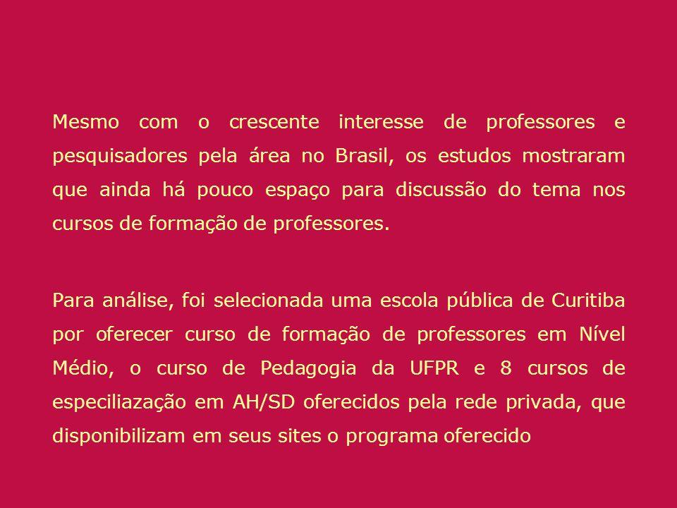 Mesmo com o crescente interesse de professores e pesquisadores pela área no Brasil, os estudos mostraram que ainda há pouco espaço para discussão do tema nos cursos de formação de professores.