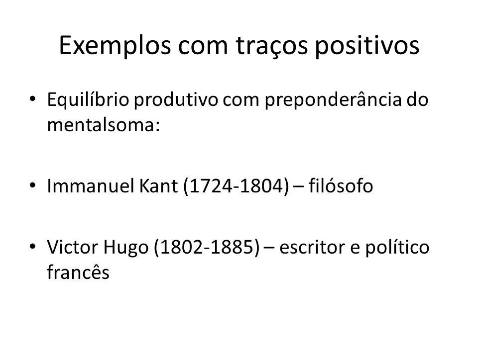 Exemplos com traços positivos