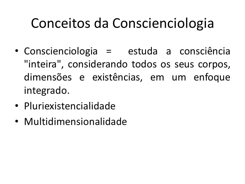 Conceitos da Conscienciologia