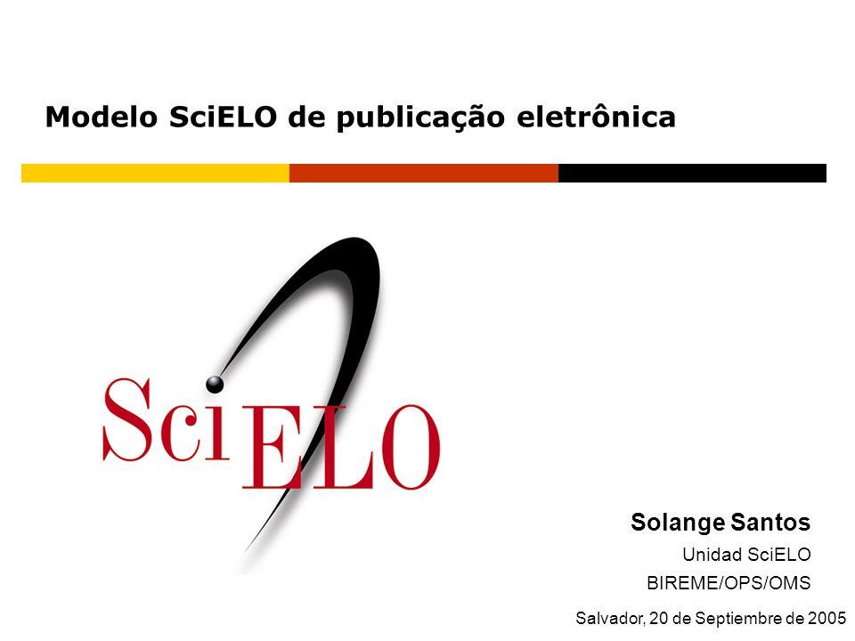 Modelo SciELO de publicação eletrônica