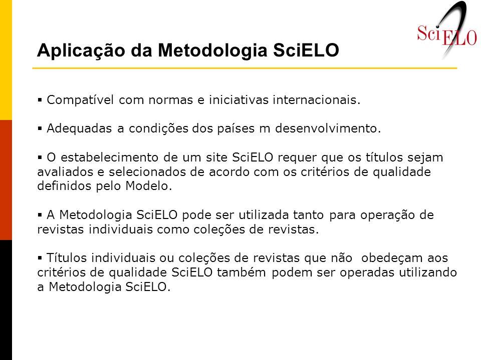 Aplicação da Metodologia SciELO