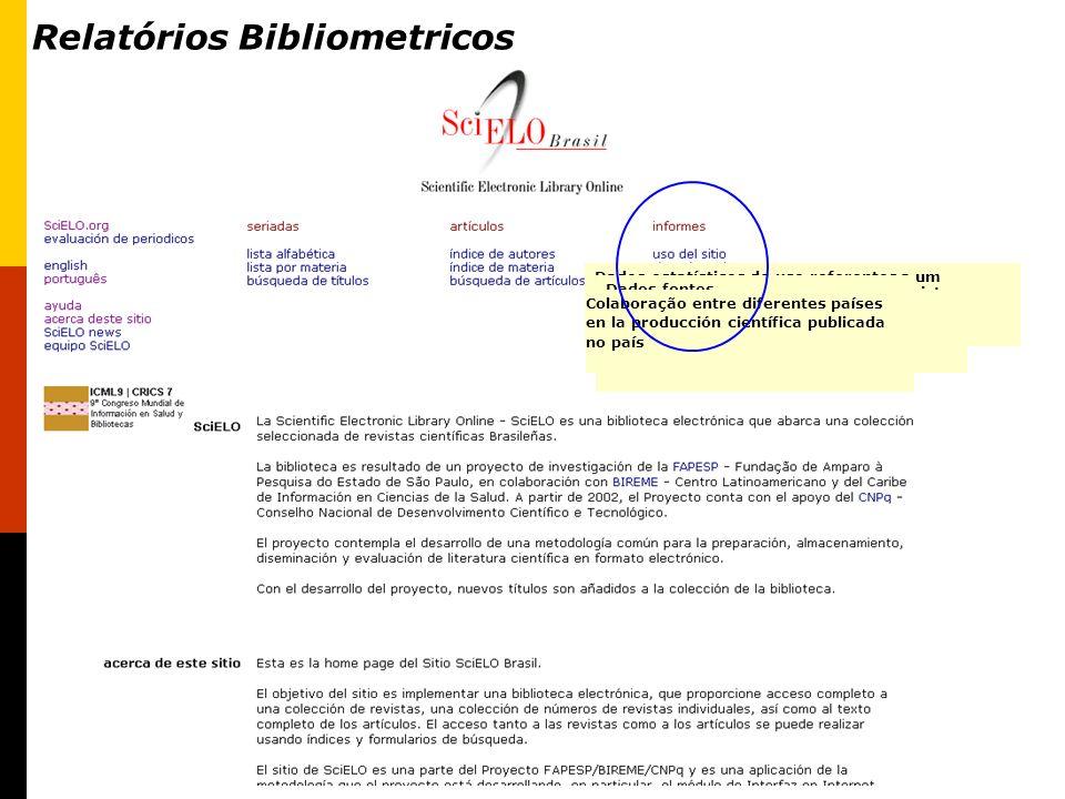 Relatórios Bibliometricos