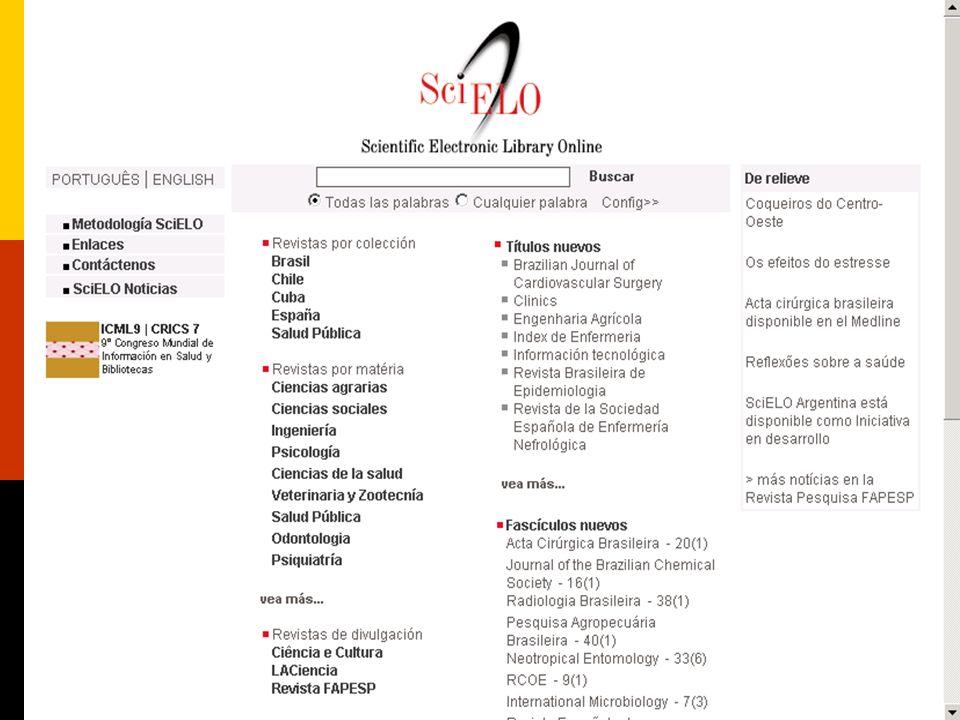 Rede SciELO Portal SciELO: http://www.scielo.org
