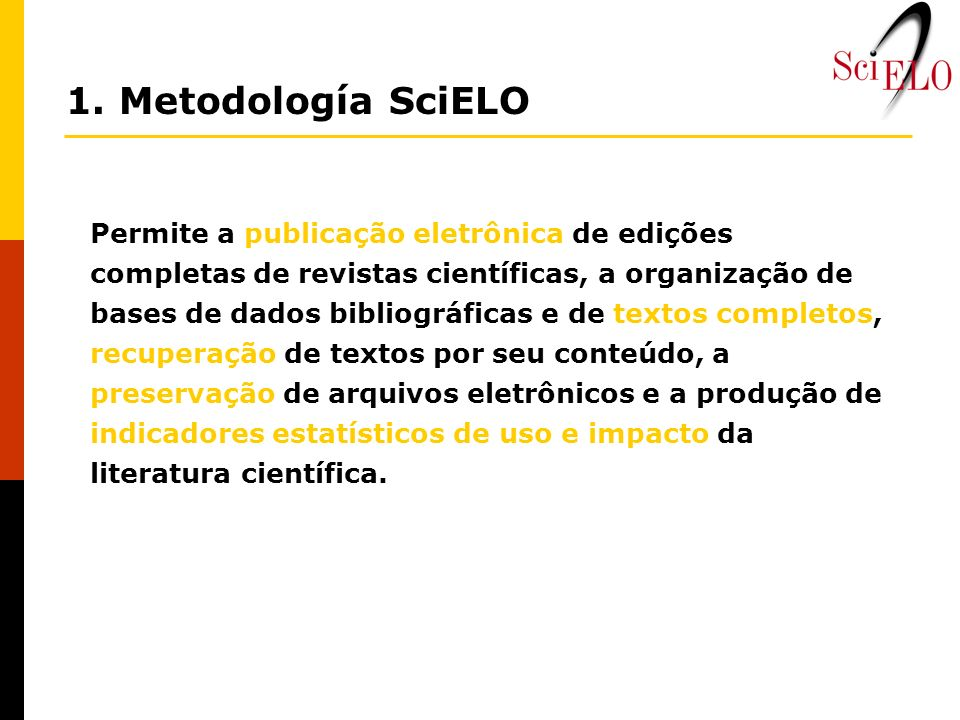 1. Metodología SciELO