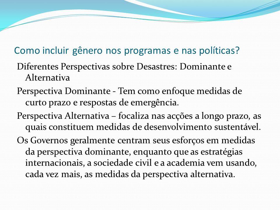 Como incluir gênero nos programas e nas políticas