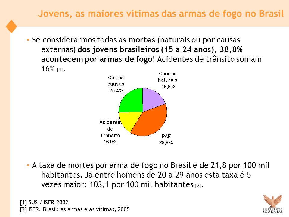 Jovens, as maiores vítimas das armas de fogo no Brasil