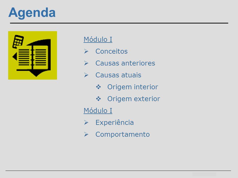 Agenda Módulo I Conceitos Causas anteriores Causas atuais
