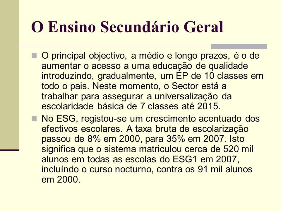 O Ensino Secundário Geral
