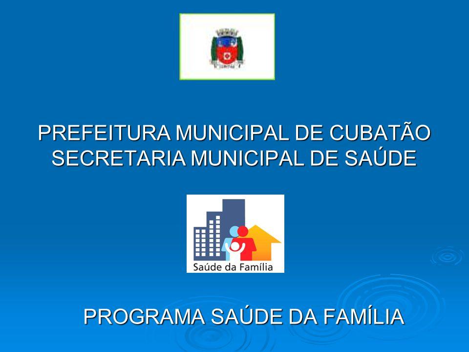 PREFEITURA MUNICIPAL DE CUBATÃO SECRETARIA MUNICIPAL DE SAÚDE