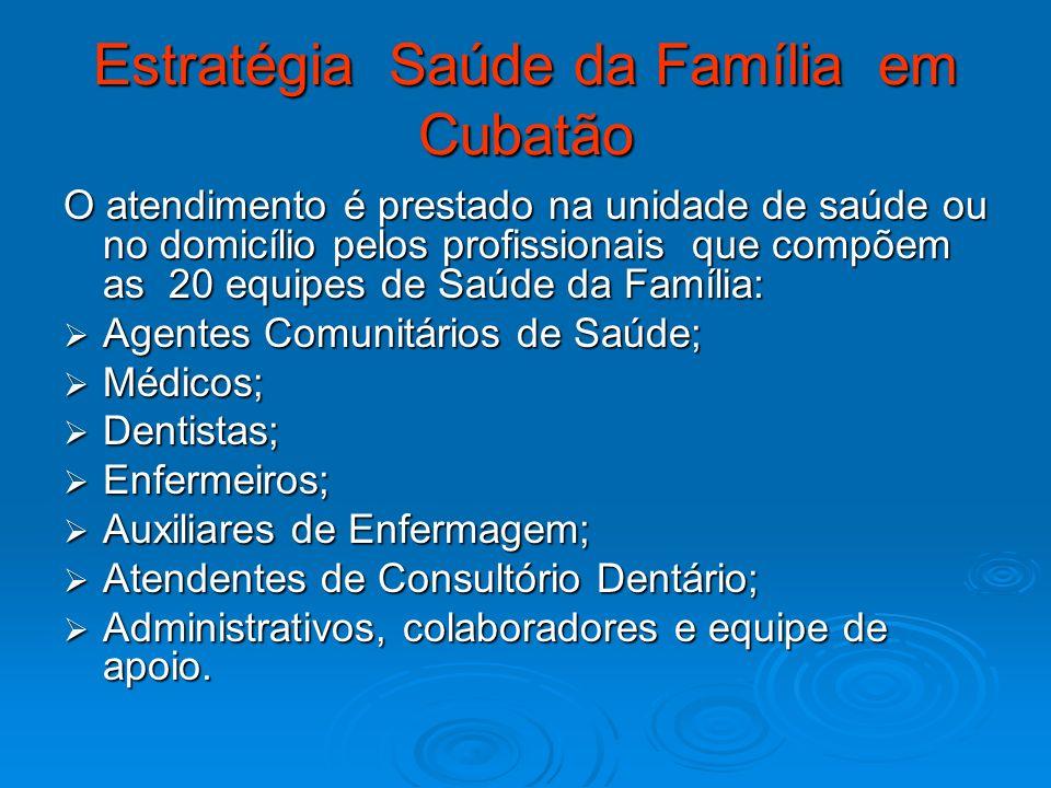 Estratégia Saúde da Família em Cubatão