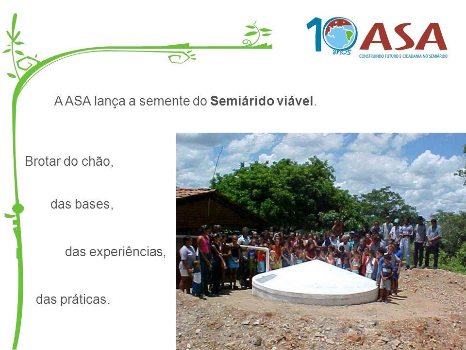A ASA lança a semente do Semiárido viável.