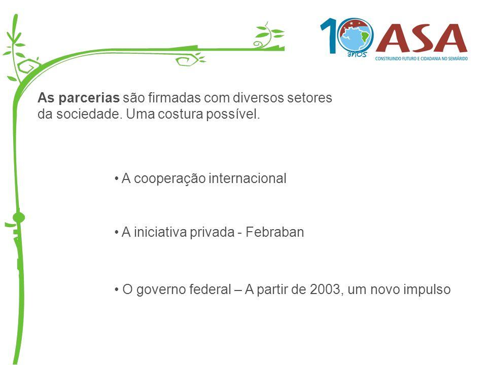 As parcerias são firmadas com diversos setores da sociedade