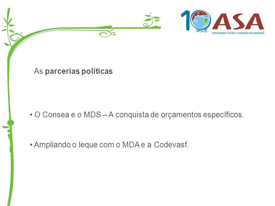 As parcerias políticas
